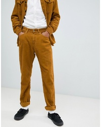Kings Of Indigo Co Ord Homer Slim Cord Trousers In Tan
