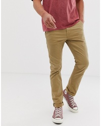 Nudie Jeans Co Slim Adam Chino Trousers In Beige