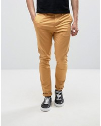 Asos Skinny Chinos In Mustard Yellow