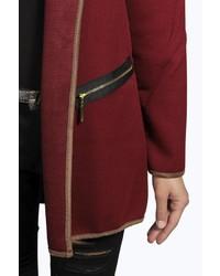 Boohoo Cara Regan Hooded Duster Coat