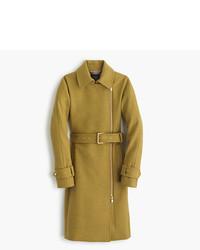 J.Crew Petite Belted Zip Trench Coat In Wool Melton