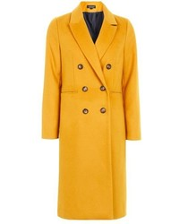 Topshop Longline Double Breasted Coat