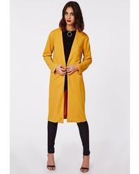 Missguided Petrisha Duster Coat Mustard