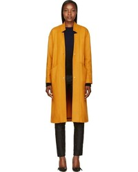 Roseanna mustard oversized wool margot coat medium 90150