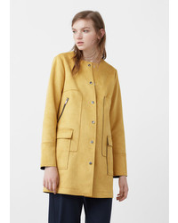 Mango Straight Pockets Coat