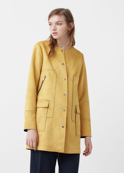 Mango Straight Pockets Coat
