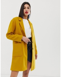 Warehouse Tailored Coat With Oversized Pockets In Yellow