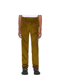 Acne Studios Acne S Yellow Corduroy Cargo Pants