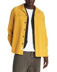 Mustard Corduroy Shirt Jacket