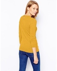 Asos Collection Sweater With Keyhole Back