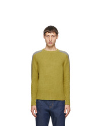 Random Identities Green Wool Bicolor Crewneck