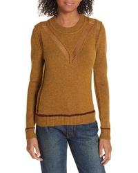 See by Chloe Ladder Stitch Wool Sweater