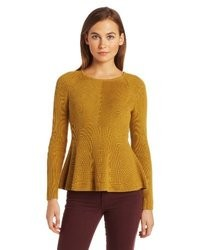 O'Leary Margaret Peplum Pullover Sweater
