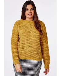 Missguided Plus Size Chunky Knit Sweater Mustard | Where to buy ...