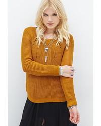 Forever 21 Open Knit Raglan Sweater