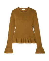 See by Chloe Ruffled Med Wool Sweater