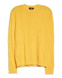 Fendi X Sarah Coleman Ff Vertigo Perforated Sweater