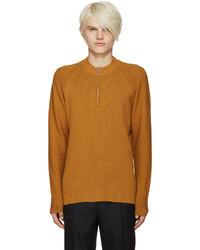 Yellow ivor half zip pullover medium 785871