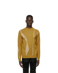 A-Cold-Wall* Yellow Jacquard Terrain Sweater