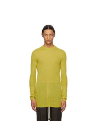Rick Owens Yellow Mohair And Alpaca Biker Level Round Neck Sweater