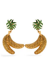 Dolce & Gabbana Crystal Banana Clip On Earrings