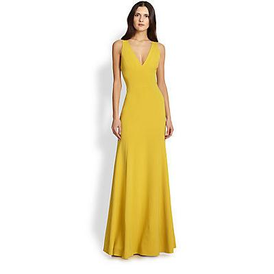 Robert Rodriguez Vertebr Long Gown Yellow Where To Buy How To Wear
