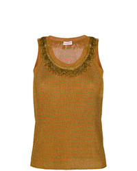 Sonia Rykiel Fringe Detail Ribbed Vest Top
