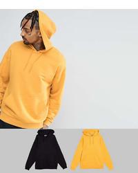 Asos Oversized Hoodie 2 Pack Yellowblack Save