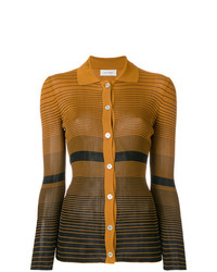 Wales Bonner Striped Fitted Cardigan
