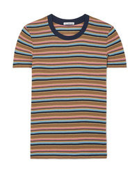 James Perse Vintage Boy Striped Cotton Blend Jersey T Shirt
