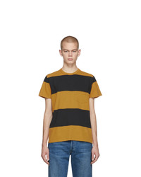 Levis Vintage Clothing Yellow And Black Stripe 1960s Casual T Shirt