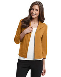 Evan Picone Open Front Solid Jacket
