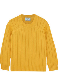 Cable knit wool sweater mustard medium 5259046