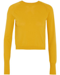 DKNY Cropped Knitted Sweater Mustard