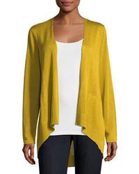 Eileen Fisher Long Slouchy Sleek Knit Cardigan Plus Size