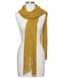 Sylvia alexander loose knit scarf with fringe assorted colors medium 107877