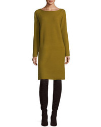 Lafayette 148 New York Cozy Rib Knit Flannel Sweaterdress