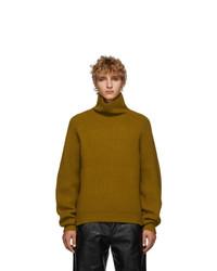 Mustard Knit Wool Turtleneck