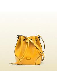 Mustard Leather Bucket Bag