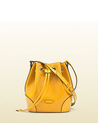 Gucci bright diamante leather bucket bag medium 85369
