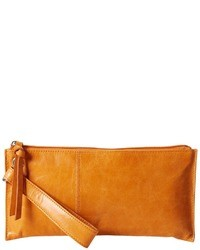 Mustard Leather Clutch