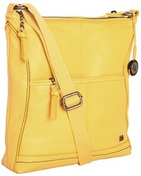 Mustard Leather Crossbody Bag
