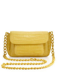 Nancy Gonzalez Crocodile Comparttalized Mini Crossbody Bag Yellow