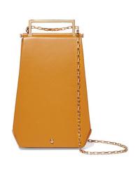 Maison Etnad Eloine Mini Suede And Textured Leather Shoulder Bag