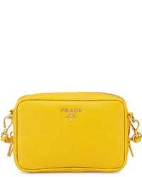 Prada Saffiano Small Crossbody Bag Yellow