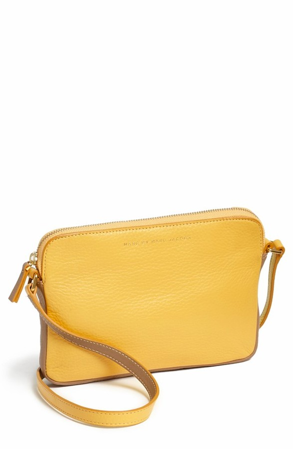 aebd90a23e18 ... Mustard Leather Crossbody Bags Marc by Marc Jacobs Sophisticato Dani  Leather Crossbody Bag ...