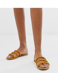 New Look Tube Sandal In Corn Yellow
