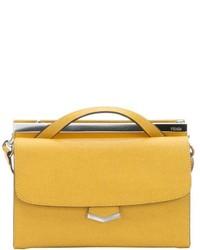 Fendi Blue Neon Leather Demi Jour Mini Split Shoulder Bag