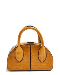 Topshop Faux Leather Frame Handbag