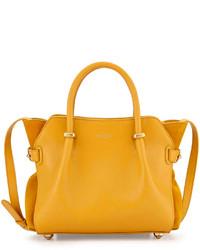 Nina Ricci Mini Marche Leather Satchel Bag Yellow